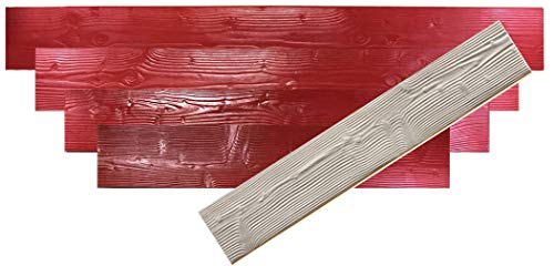 GlobMarble 11' Wood Plank Concrete Stamp Set. Wood Texture Stamp Mat SM 5300 S. 5 Pieces