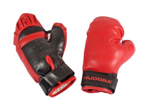 HUDORA Punchingball Set mit Boxhandschuhen & Pumpe - Boxsack Boxhandschuhe aus Kunstleder Abbildung 3