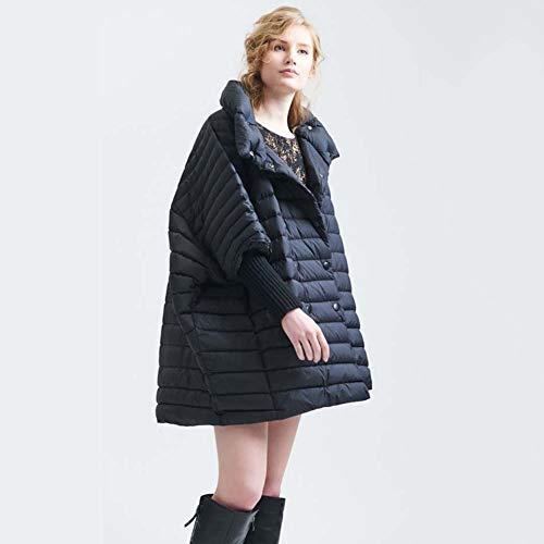 ELEAMO Frau Frau lose große Yards Daunenjacke superleichten Subnotebook Fettleibigkeit Wintermantel Jacke warme Daunenjacke Normallack übergroße Jacke Frau XL,Schwarz