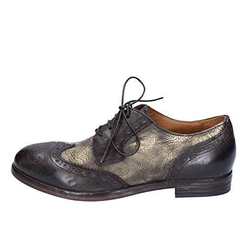 MOMA Elegante Schuhe Damen Leder braun 37 EU