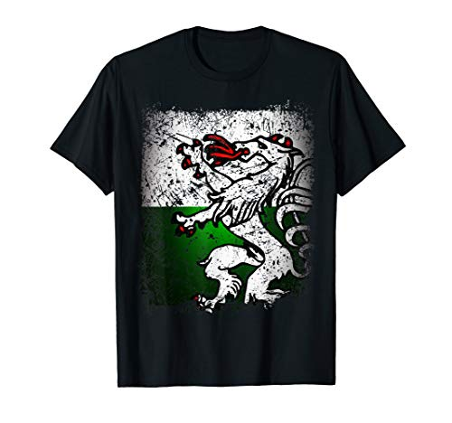 Steiermark T-Shirt Retro Vintage mit Flagge / Fahne Panther T-Shirt