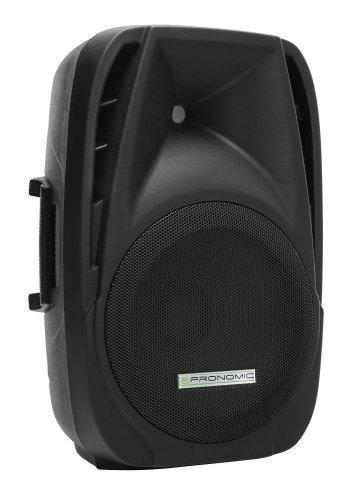 Pronomic PH12A Bühnen- und Konzertlautsprecher Aktiv PA-Lautsprecher Aktive ABS PA-Box, 12 Zoll, 30 cm, 300W) schwarz