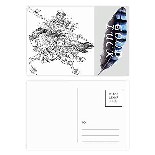 Conjunto de cartões postais The Romance Three Kingdoms Lucky Feather Masterpiece 20 peças