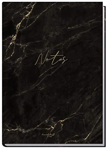 Notizbuch A5 liniert [Marmor] von Trendstuff by Häfft | 126 Seiten | ideal als Tagebuch, Bullet Journal, Ideenbuch, Schreibheft | nachhaltig & klimaneutral