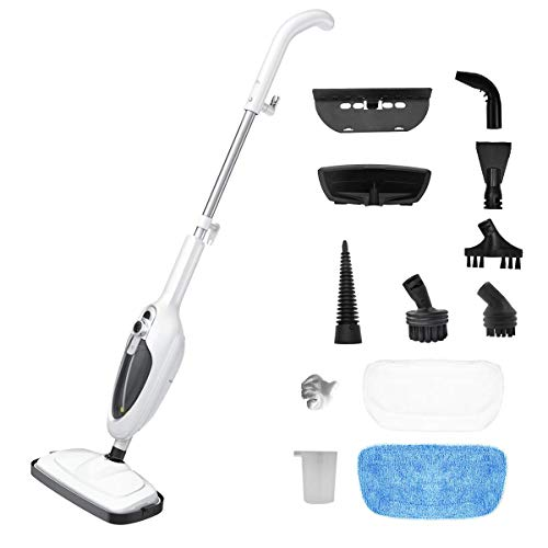 Steam Mop for Tile and Hardwood,Steam Mop for Floor Cleaning,Hardwood floor cleaner,20ft Power Cord,2 Pads,Lightweight Steam Mop with 1200W Power,300ml Water Tank by Sandoo,SC1050