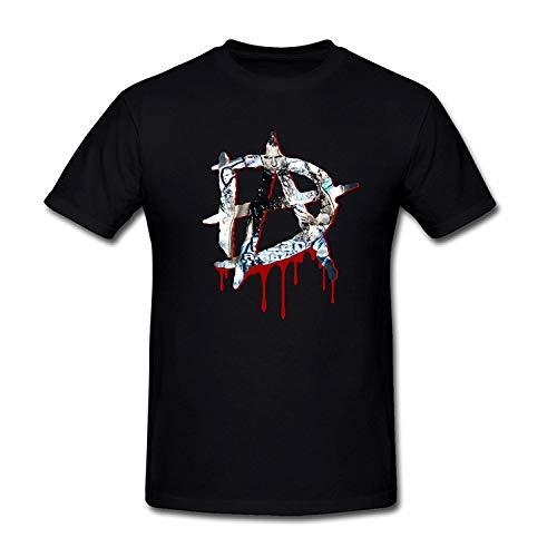 WWE Wrestler Dean Ambrose DA Logo Fashion Summer Men's Cotton T-Shirt Black