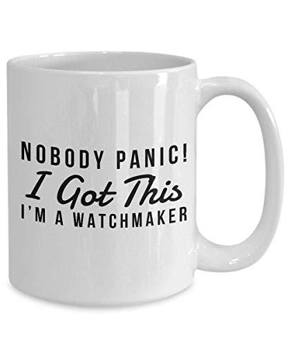 N\A Taza Divertida Regalo de relojero, Regalo para relojero, Taza de Humor relojero, Humor de Taza de relojero, relojero de Humor Meme, Taza de café Divertida