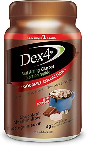 Dex4 Dex4 Glucose Tablets, 50-Count Bottle, Chocolate Marshmallow, 50 Count