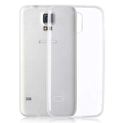 Roar Handy-Hülle für Samsung Galaxy S5 Mini, Hülle Transparent Silikon, Schutzhülle Silikonhülle [0.8mm Ultra Slim Case, Clear Cover, Durchsichtig, TPU Silikon]