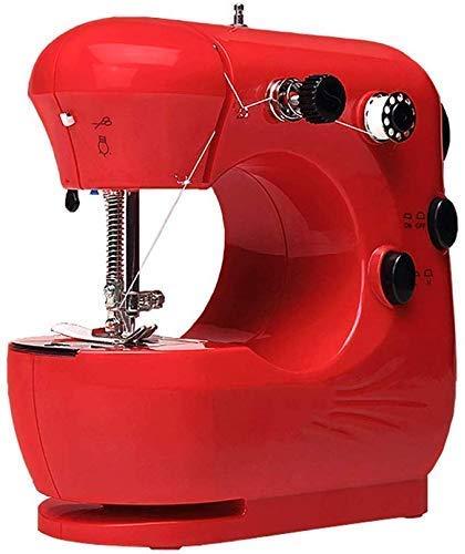 Draagbare huishoudelijke lichtgewicht naaimachine Mini-naaimachine voor beginners, eenvoudig te gebruiken 2-speed zware borduurnaaimachine, voetbediening