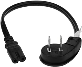 SF Cable 1ft Ultra Low Profile Angle Non-Polarized Power Cord NEMA 1-15P to IEC320 C7 18/2 AWG