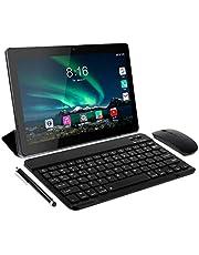 Tablet 10 Pollici - TOSCIDO Android 10.0 Certificato da Google GMS Tablet 4G LTE,4 GB di RAM e 64 GB, Doppia SIM,GPS,WiFi,Ttastiera Bluetooth,Mouse,Custodia per Tablet e Altro Incluso - Gray