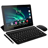 Tablet Android 10.0 - TOSCIDO Tablets 10 Zoll 4 GB/RAM,64 GB/ROM Tablet PC Octa Core,Dual SIM,WiFi Unterstützung Bluetooth Tastatur |Maus| Tablet Cover und Mehr Enthalten - Grau