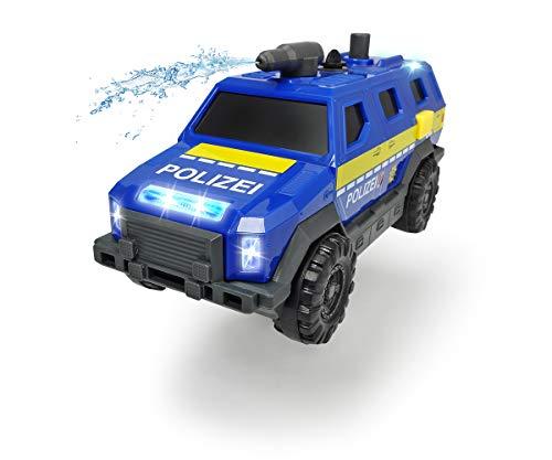 Dickie Toys 203713009 Special Forces, Spezialeinheit, SUV, Truck, Polizeiauto mit Funktionen, Sondereinheit, 1:32, blau/gelb/grau
