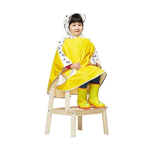 Uiophjkl Sport-regenjas meisjes-Baby-kind-waterdichte capuchonmantel-jack-bovenkleding regenjas capuchon waterdicht bergwinddicht ski-regenpak (kleur: geel, maat: medium)