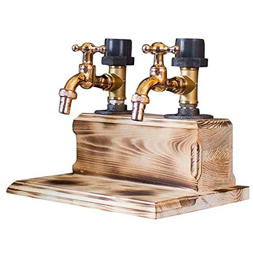 Día del Padre Whisky Decanter Holder, Decantador de vinos con Dispensador de Faucet Forma para Party Dinners Barras y Estaciones de Bebidas, Soporte de Bar Personalizado para el hogar