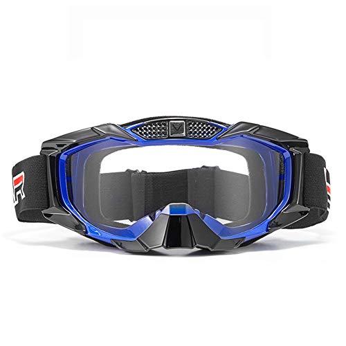 Gafas De Moto, A Prueba De Viento, A Prueba De Arena, A Prueba De Polvo, A Prueba De Arañazos, Gafas De Montar, Adecuado para Deportes Al Aire Libre como Esquí, Ciclismo, Etc (Blue)
