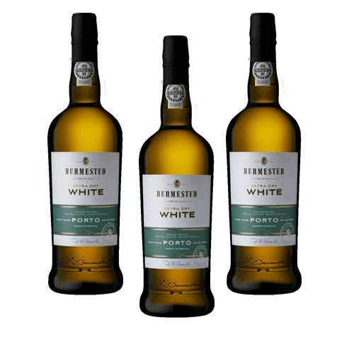 Vino de Oporto Burmester Extra Dry White - Vino Fortificado- 3 Botellas