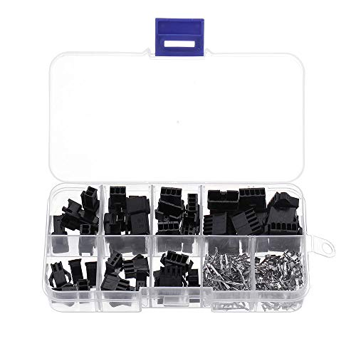 JJBHD Electronic Accessoires & Supplies 200 stücke 2.54mm terminal männlich / weibliche pin sm2.54 kabelstecker 2/3/4/5 stift elektrischer jumper header gehäuse kabelstecker kit Um Ihnen die Qualität
