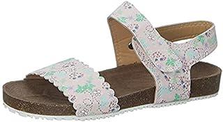 Skippy Velcro Closure Open Toe Sandals for Girls - Pink, 31 EU