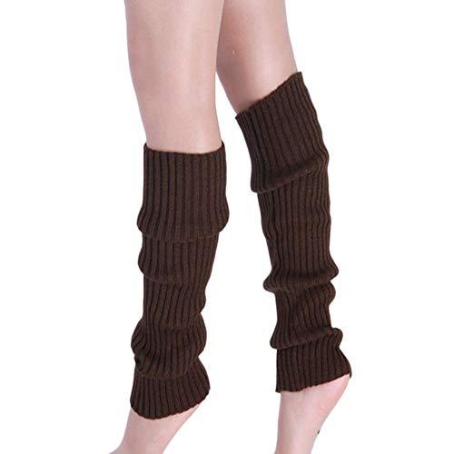 GAOYUE Socken Beinlinge Frauen Reine Farbe Boot Manschetten Wärmer Wolle Stricken Bein Aktien Winter Baumwolle Lange Socken Über Knie Mädchen, Kaffee, China