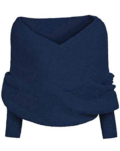 Sciarpa Donna Inverno donna Inverni scialle maglione Wrap Maglia Scialle Inverno Donna, Cappotto Girl grandi Wrap Maglia Scialle Inverno Donna