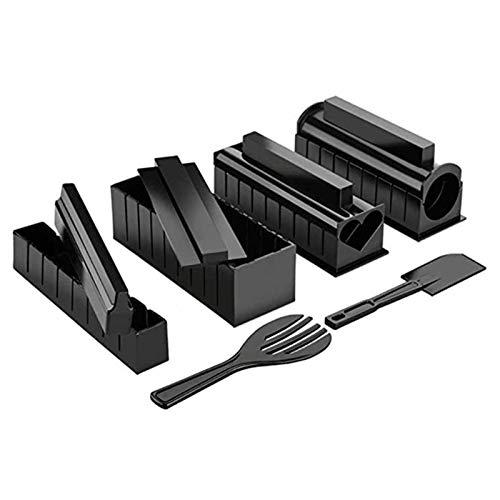 IY Sushi Maker Kit 10 Stück Kunststoff Sushi Making Werkzeug mit 8 Sushi Reisrollen Formen Spatel Gabel