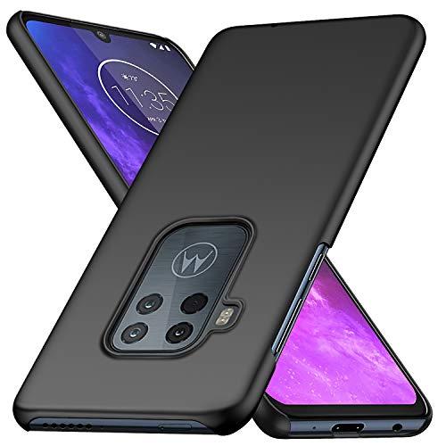 BRAND SET Schutzhülle für Motorola One Zoom Hülle PC Ultra Dünnes Handygehäuse, Superdünne Antikollisions Und Kratzschutz Hartschale für Motorola One Zoom-Schwarz