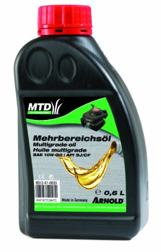 Arnold Mehrbereichs-Motorenöl SAE 10W-30 für Gartengeräte, 0.6 Liter 6012-X1-0033
