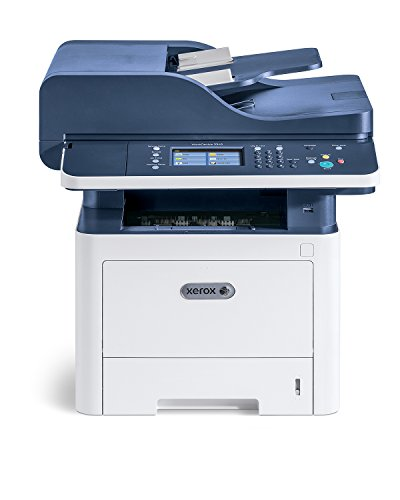 Xerox WorkCentre 3345dni Wireless A4 Mono Multifunction Laser Printer, White/Blue