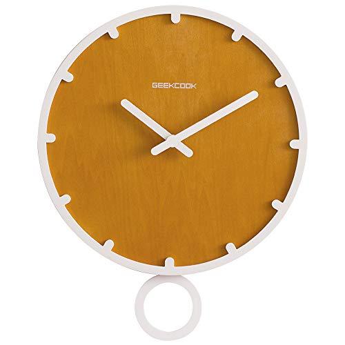 Xiaoxin Keukenklok, Clock, woonkamer, eenvoudige wandklok: schommelen met tijd, creatief, hout, klok wit