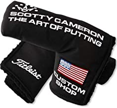 Scotty Cameron Authentic Custom Shop Putter Headcover - Black Nylon US-Flag - Blade Style