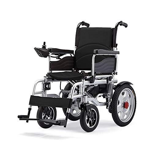 PLBB3K Elektrischer Rollstuhl Faltbarer Leichter automatischer, intelligenter Vierrad-Roller für ältere Menschen mit Behinderungen - Schwarz (Color : Black)
