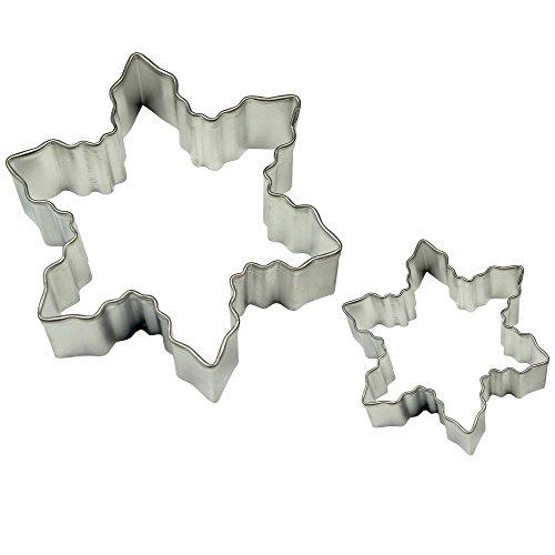PME SC600 Formine per Biscotti Fiocchi di Neve, Acciaio Inossidabile, Argento, 2 unità