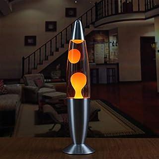 Lámpara Linda Base de Metal Lava Lámpara Cera Volcán Estilo Noche Luz Medusas Luz Nocturna Glare Incandescente Lava Iluminación Lámparas Luz