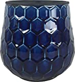 Honeycomb Planter44; Cobalt