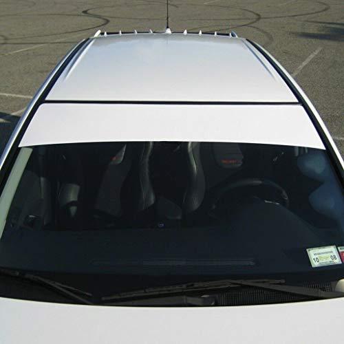 "Southern Car Parts Windshield Banner Cast PVC Film Sun Strip Visor Premium Vinyl Decal 60""x 12"" (Gloss White)"