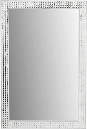 Kare Design Miroir Crystals, Blanc., 80 x 60 cm