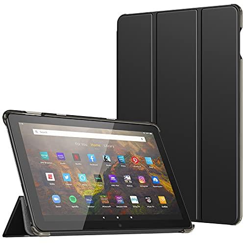 """TiMOVO Custodia per all-New Fire HD 10 & Fire HD 10 Plus Tablet (10.1"""", 11th Generation, 2021 Release), Sottile Leggero Cover, Auto Sveglia/Sonno, Retro Semi-Trasparente Rigido, Nero"""