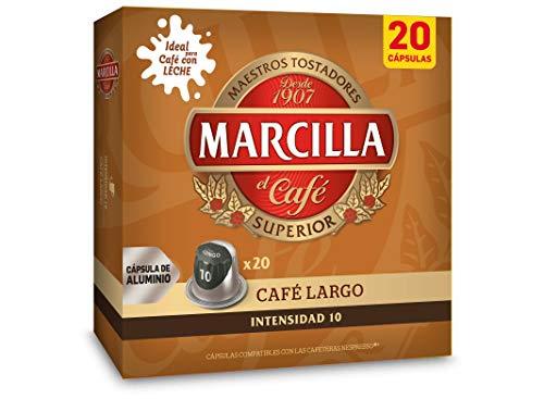 JDE Coffee Marcilla Café Largo - 200 cápsulas compatibles con máquinas Nespresso (10 paquetes de 20 unidades)
