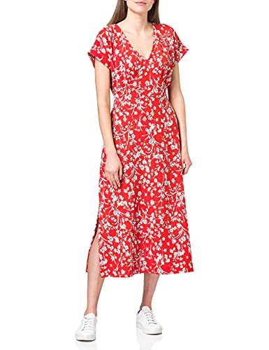 ESPRIT Damen 041EE1E330 Kleid, 635/ORANGE RED, M