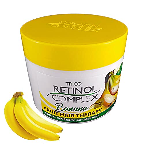 Mascarilla Regeneradora Para Cabello Terapia De Frutas, Mascarillas Capilares Regeneradora 500ml (Banana)