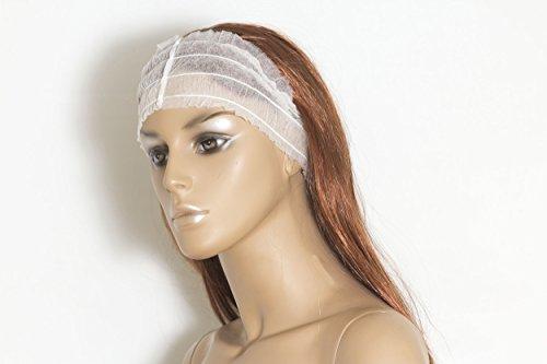 Wegwerp brede hoofdband, wit, pak van 100 (kapper)