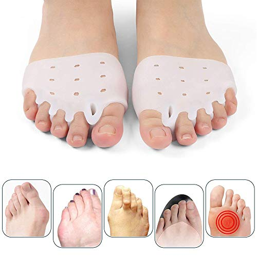 Ball of Foot Cushions, Metatarsal Pads for Women and Men,Gel Toe Separator, Forefoot Cushions,Bunion Corrector Pads,Best for Metatarsal Pain and Diabetic Feet1 Pair