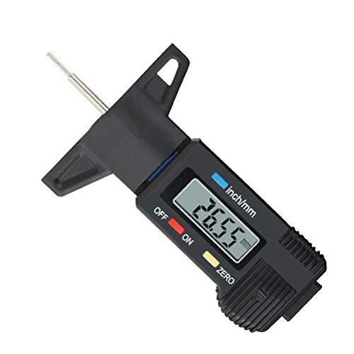 Vosarea Calibre neumático digital LCD medidor de profundidad de la banda de rodadura del neumático para coche, camión, bicicleta, 0-25 mm (negro)