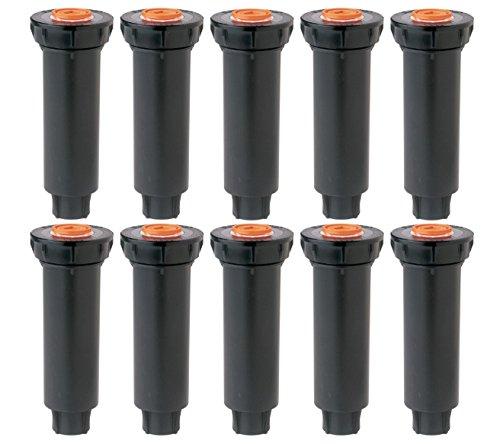 "Rain Bird 1800 Series Pop-Up Sprinklers 10 PACK - Nozzles NOT included - RainBird 4"" 1804 model pop up irrigation sprinkler for lawn, yard, garden, planter beds"