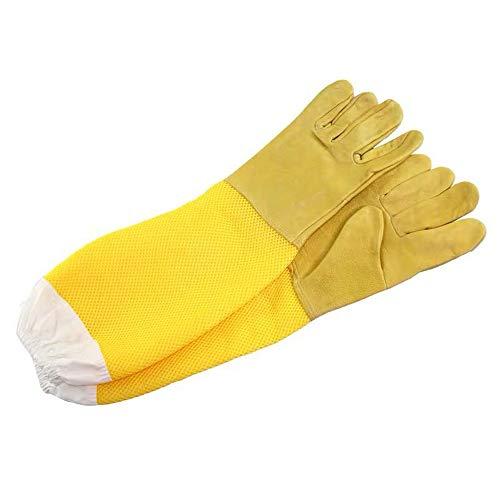 ZDJR Imkerei-Handschuhe, belüftete Ärmel, stichsichere Manschetten, Ziegenleder-Handschuhe Perfekt für den Imker-Anfänger