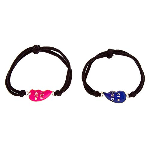Claire's Matching Mood Heart Stretch Best Friends Friendship Bracelets,...