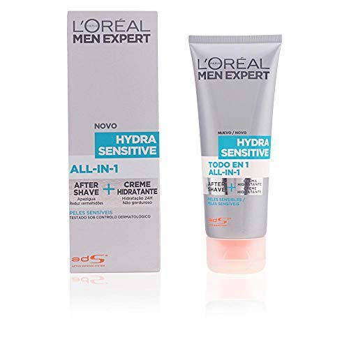 L'Oréal Paris Men Expert Todo en 1 After-Shave + Hidratante Hydra Sensitive para Hombres con Piel...