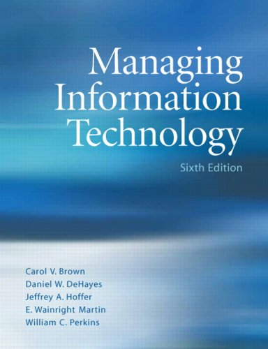 Managing Information Technology (6th Edition)